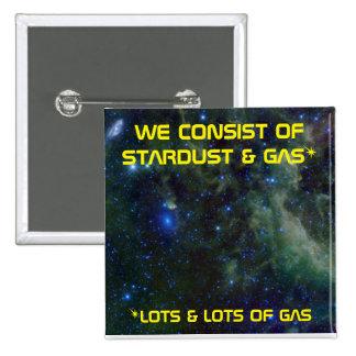 Stardust & Stargas 2 Inch Square Button