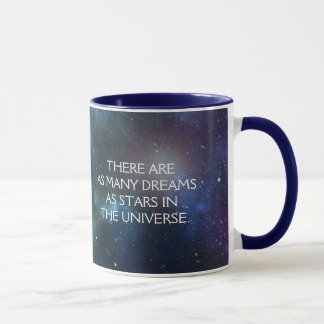 Starfield with Multicolored Cosmic Dust Mug