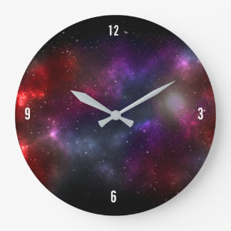 Starfield with Multicolored Cosmic Dust Wallclock