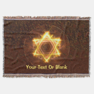 Starfire Star Of David Throw Blanket