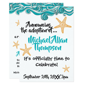 Starfish Adoption Party Announcement