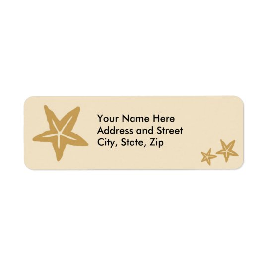 Starfish and babies return address label