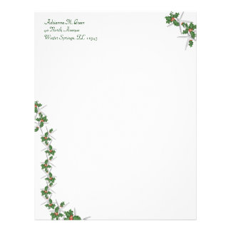 Starfish and Holly Tropical Christmas Stationery