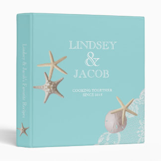 Starfish and Lace Beach Recipes Binders
