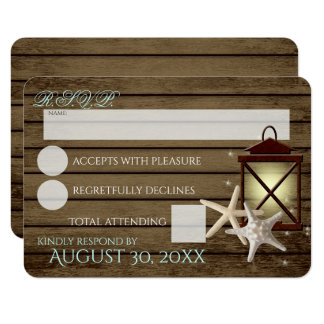Starfish and Lantern Ocean Wood Response Card