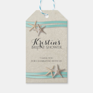 Starfish and Ribbon Beach Bridal Shower Pack Of Gift Tags