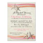 "Starfish and Ribbon Bridal Shower 4.5"" X 6.25"" Invitation Card"