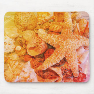Starfish and Sea Shells (2) - Mouse Pad