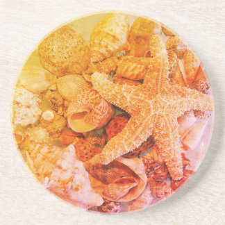 Starfish and Sea Shells - Coaster