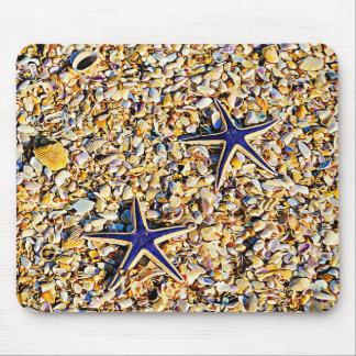 Starfish and Seashells Mouse Pad