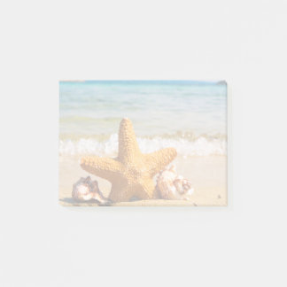 Starfish and Seashells on the Beach Post-it Notes