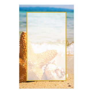 Starfish and Seashells on the Beach Stationery