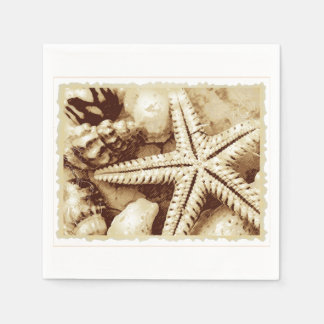 Starfish and Seashells Paper Napkins
