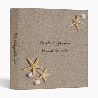 Starfish and Seashells Wedding Planner binder