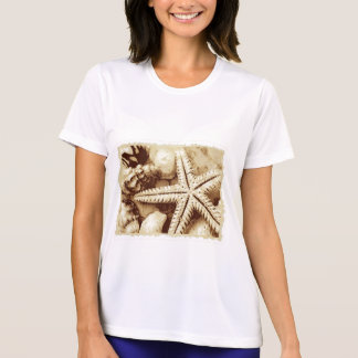 Starfish and Seashells Womens Active Tee