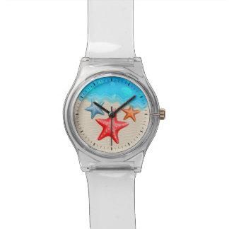 Starfish And Seashells Wrist Watches