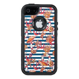 Starfish And Stripes Pattern OtterBox iPhone 5/5s/SE Case