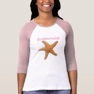 Starfish and Weathered Planks Beach T-Shirt