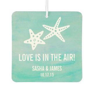 Starfish Aqua Wedding Favor Air Freshener