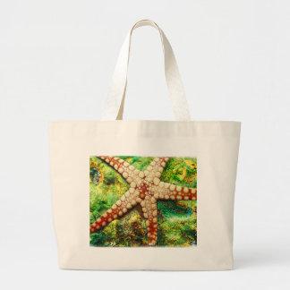 Starfish Aquatic Animal Digital Art -JungleWalk Jumbo Tote Bag