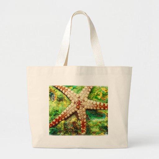 Starfish Aquatic Animal Digital Art -JungleWalk Bags