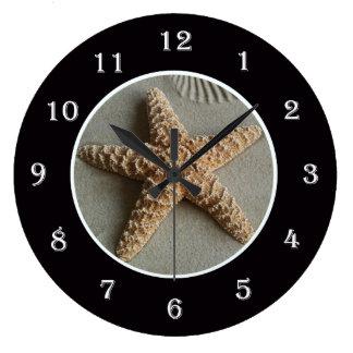 Starfish at the Beach Wall Clock