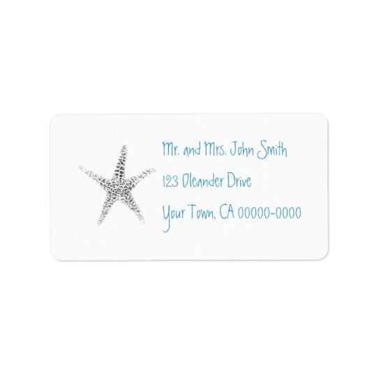Starfish (B&W) Address Label
