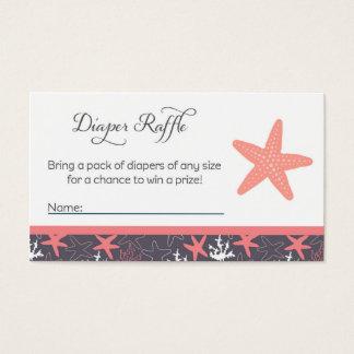 Starfish Baby Shower Diaper Raffle Tickets