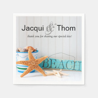 Starfish Beach Cocktail Party Paper Napkins