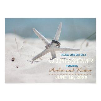 "Starfish Beach Couples Shower 5"" X 7"" Invitation Card"