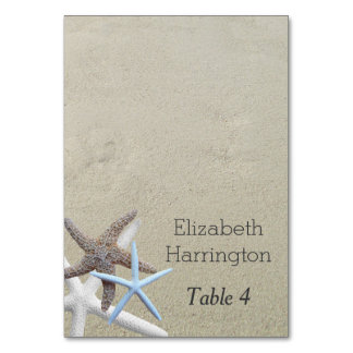 Starfish Beach Sand Name Escort Cards