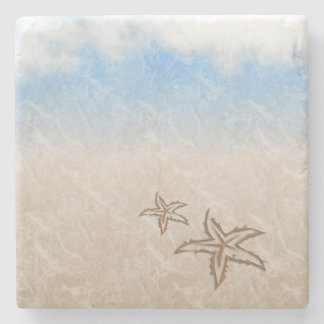 Starfish Beach Stone Coaster