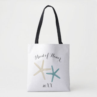 Starfish Beach Wedding Bridal Party Tote Bag