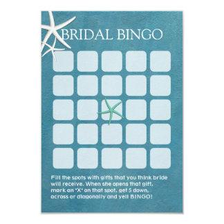 "Starfish Beach Wedding Bridal Shower Bingo Cards 3.5"" X 5"" Invitation Card"
