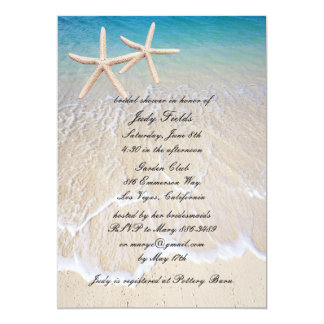Starfish Beach Wedding Bridal Shower Invitation