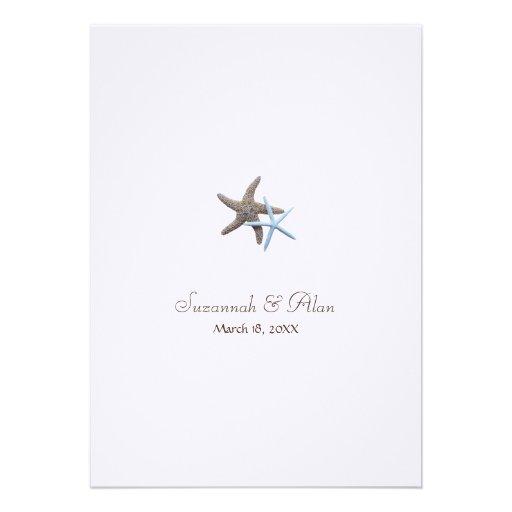 Starfish Beach Wedding Invitations, 5x7