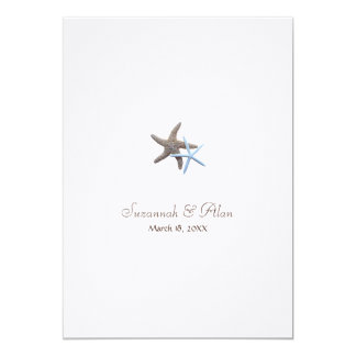 Starfish Beach Wedding Invitations, 5x7