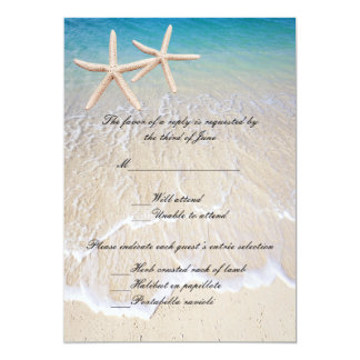Starfish Beach Wedding Response Card