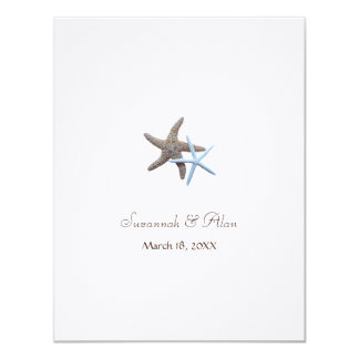 Starfish Beach Wedding Small Invitations