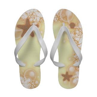 Starfish beach wedding yellow champagne sandals