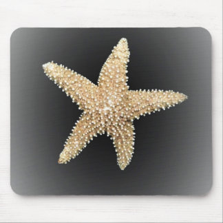 starfish black background mousepad