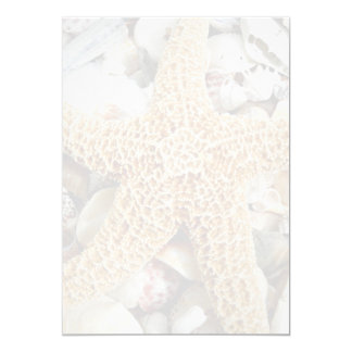 Starfish Blank Beach Wedding Fan Program Paper 5x7 Paper Invitation Card