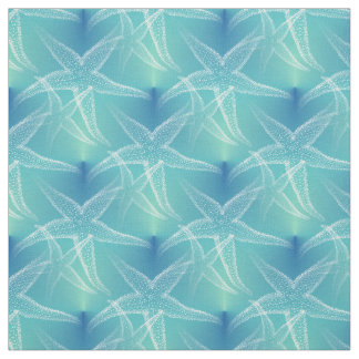 Starfish Blue Aqua Beach Fabric