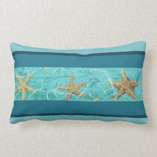 "Starfish Blue Designer Accent Pillow 16"" x 21"