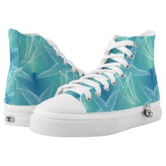 Starfish Blue Green Beach Shoes