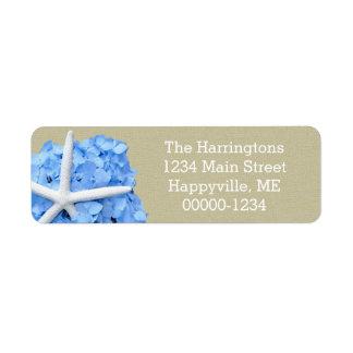 Starfish Blue Hydrangea Return Address