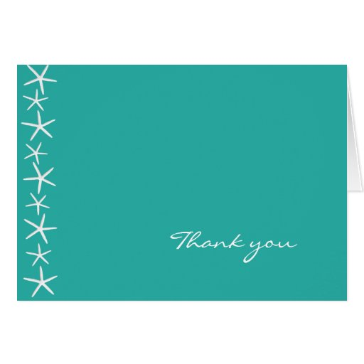 Starfish, Blue Lagoon, Blank Thank You Card