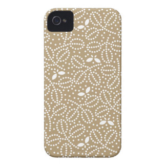 Starfish Brown Leaf & Butterfly iPhone4S Case Case-Mate iPhone 4 Case