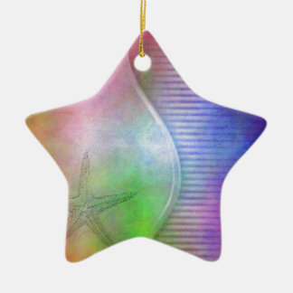 starfish ceramic ornament