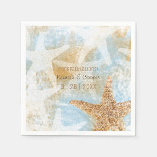 Starfish Coastal Beach Themed Event Napkin Paper Napkins